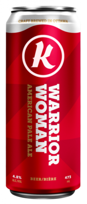 Warrior Woman by Kichesippi Beer Company in Ontario, Canada