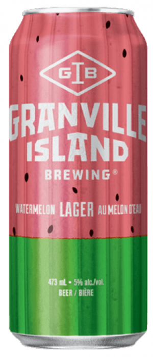 Watermelon Lager by Granville Island Brewing in British Columbia, Canada