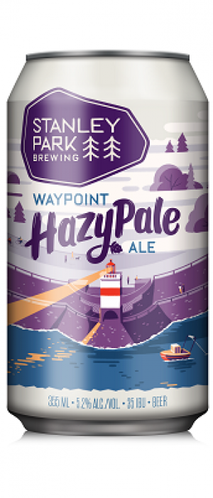 Waypoint Hazy Pale Ale by Stanley Park Brewing in British Columbia, Canada