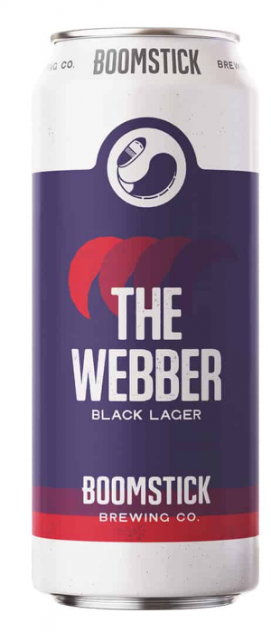 The Webber Black Lager by Boomstick Brewing Co. in Newfoundland and Labrador, Canada