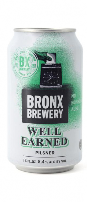 Well Earned Pilsner by Bronx Brewery in New York, United States