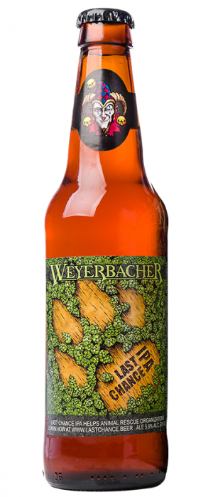 Last Chance IPA by Weyerbacher Brewing Company in Pennsylvania, United States