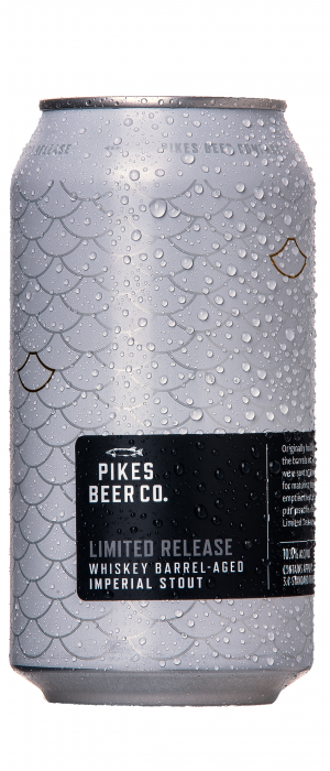 Whiskey Barrel-Aged Imperial Stout by Pikes Beer Company in South Australia, Australia