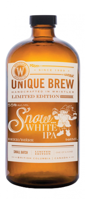 Snow White IPA by Whistler Brewing Company in British Columbia, Canada