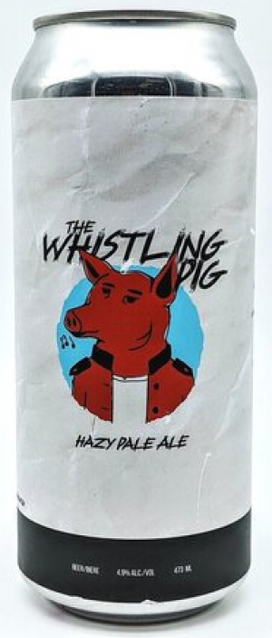 The Whistling Pig Hazy Pale Ale by Arcadia Brewing Co. in Alberta, Canada