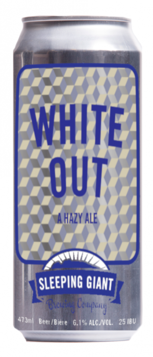 White Out Hazy Pale Ale by Sleeping Giant Brewing Company in Ontario, Canada