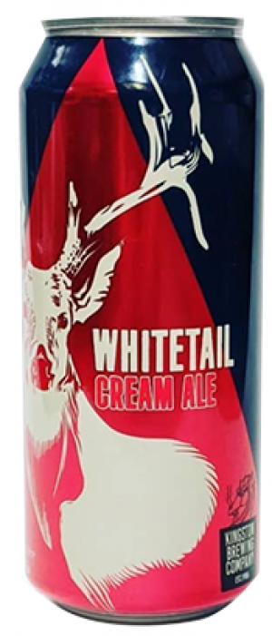 Whitetail Cream Ale by Kingston Brewing Company in Ontario, Canada