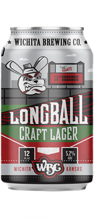 Longball Craft Lager by Wichita Brewing Company in Kansas, United States