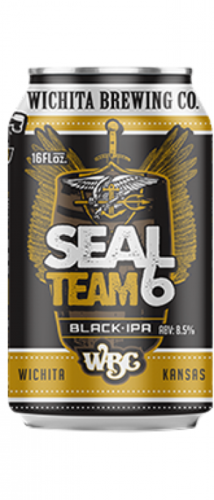 Seal Team 6 Black IPA by Wichita Brewing Company in Kansas, United States