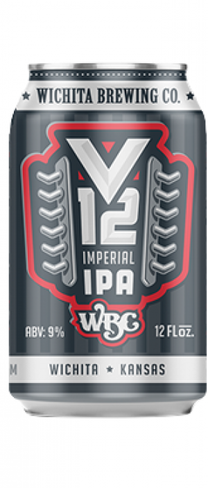 V12 Imperial IPA by Wichita Brewing Company in Kansas, United States