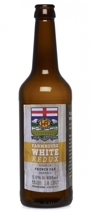 Farmhouse White Redux by Wild Rose Brewery in Alberta, Canada