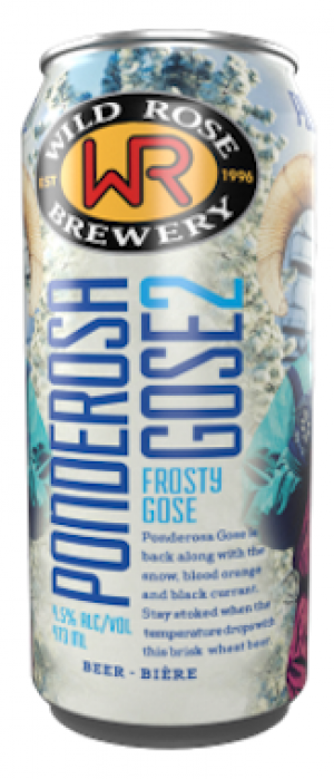 Ponderosa Frost Berry Gose by Wild Rose Brewery in Alberta, Canada