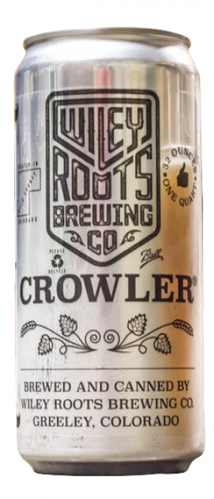 Crowler by Wiley Roots Brewing Company in Colorado, United States