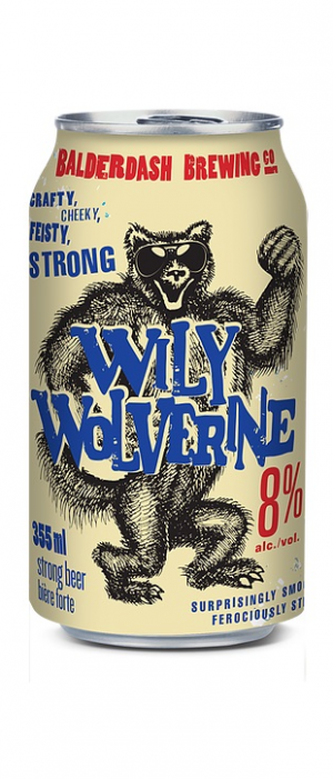 Wily Wolverine Strong Ale by Balderdash Brewing Company in British Columbia, Canada