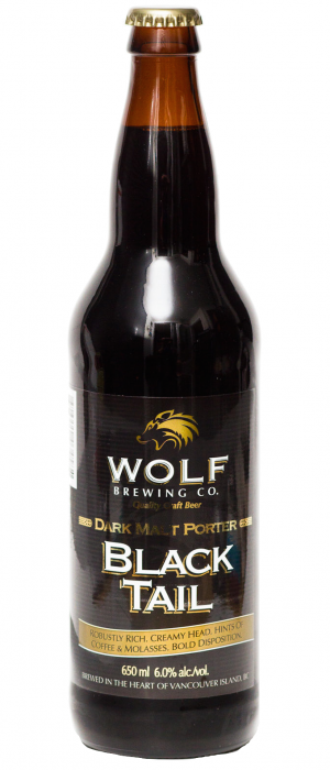 Black Tail Porter by Wolf Brewing Company in British Columbia, Canada