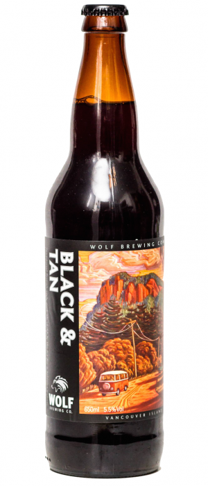 Black & Tan by Wolf Brewing Company in British Columbia, Canada