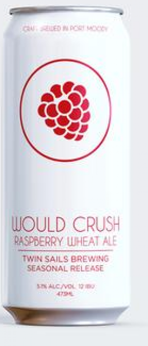 Would Crush Raspberry Wheat Ale by Twin Sails Brewing in British Columbia, Canada