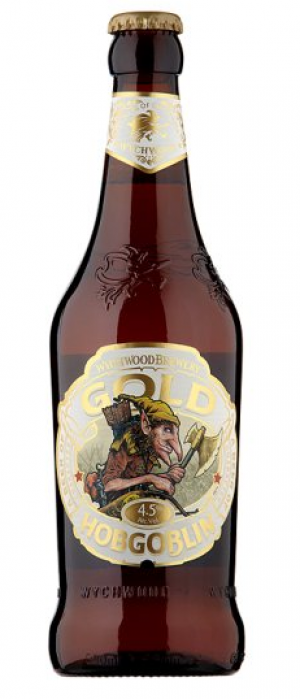 Hobgoblin Gold by Wychwood Brewery in Oxfordshire - England, United Kingdom