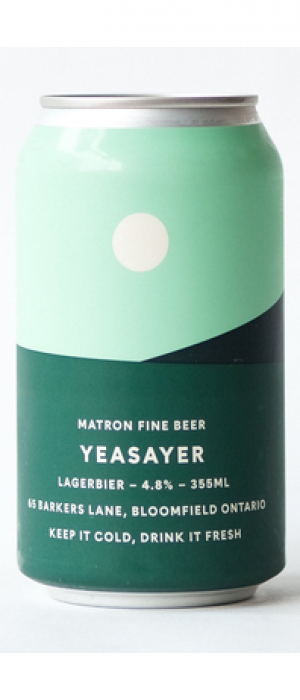 Yeasayer Lagerbier by Matron Fine Beer in Ontario, Canada