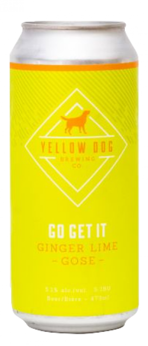 Go Get It Ginger Lime Gose by Yellow Dog Brewing Company in British Columbia, Canada