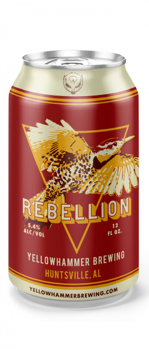 Rebellion Red by Yellowhammer Brewing in Alabama, United States