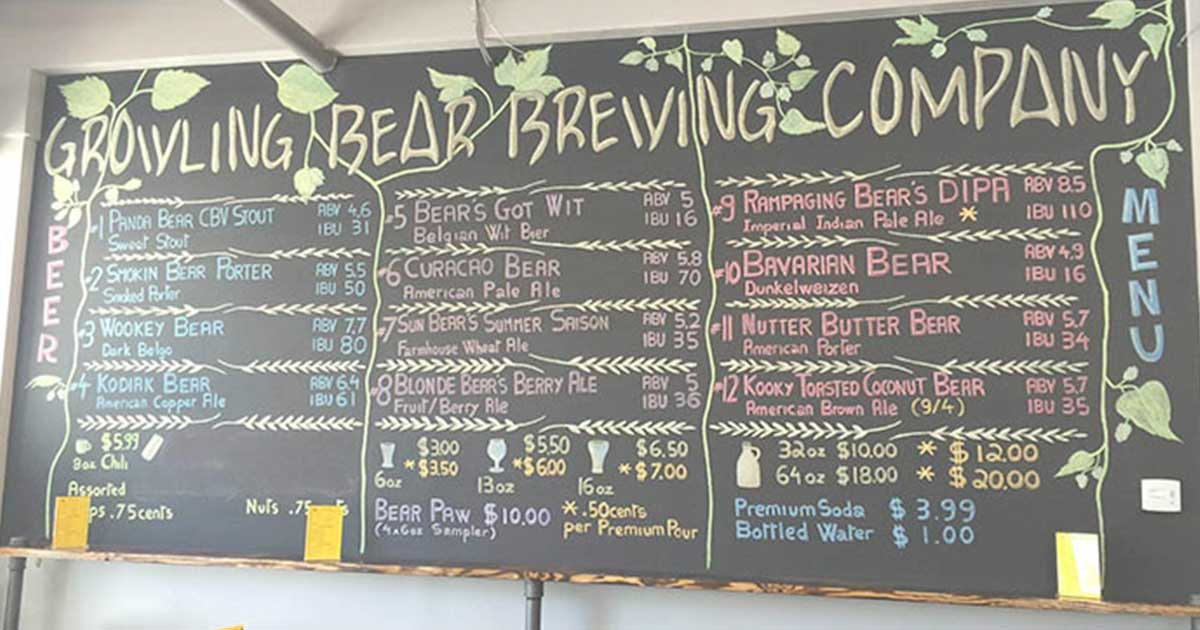 Growling Bear Brewing Company | Just Beer  Growling