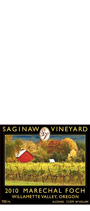 Saginaw Vineyards 2013 Marechal Foch Bottle