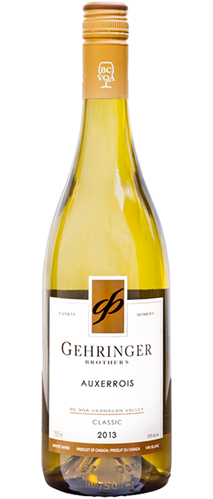 Gehringer Brothers Classic 2013 Auxerrois Bottle