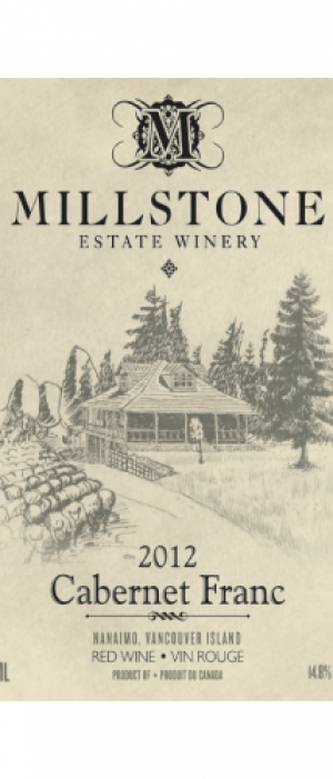 Millstone Estate Winery 2012 Cabernet Franc Bottle