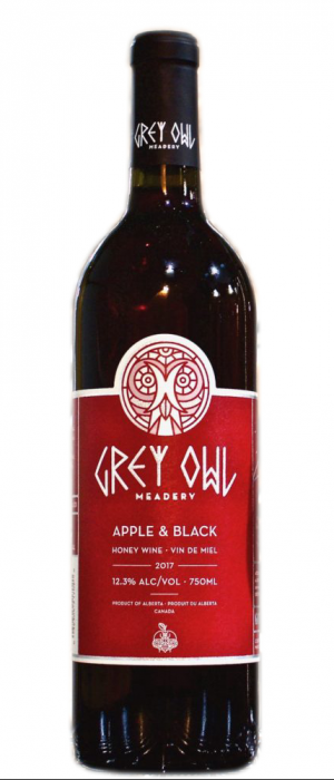 Grey Owl Meadery 2017 Apple & Black Bottle
