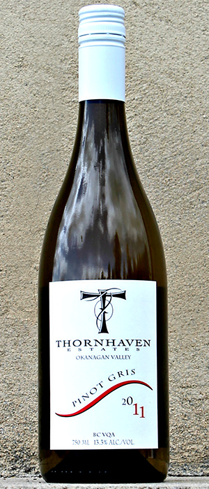 Thornhaven Estates Winery 2012 Pinot Gris (Grigio) Bottle