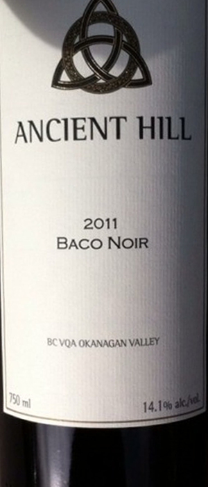 Ancient Hill Estate Winery 2011 Baco Noir Bottle