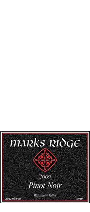 Mark's Ridge 2009 Pinot Noir Bottle