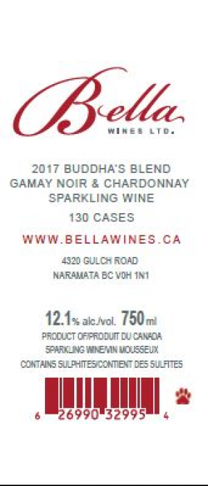 Bella Wines 2017 Buddha's Blend Sparkling Rosé Bottle