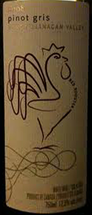 Red Rooster 2012 Pinot Gris (Grigio) Bottle