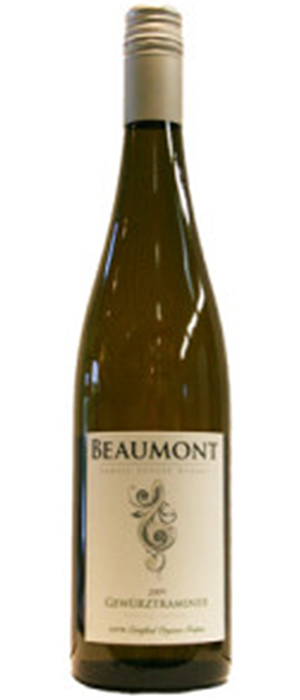 Beaumont Family Estate Winery 2012 Gewürztraminer Bottle