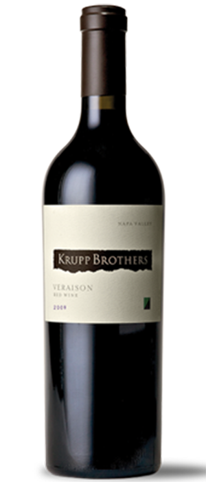 Krupp Brothers Veraison Red Wine, Napa Valley Bottle
