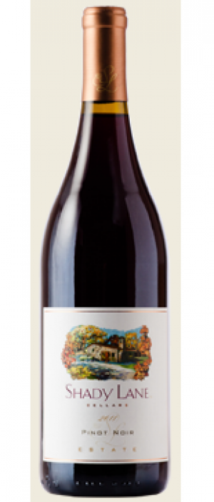 Shady Lane Cellars 2012 Pinot Noir Bottle