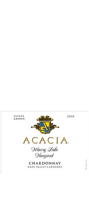 Acacia Vineyard Winery Lake Vineyard 2010 Chardonnay | White Wine