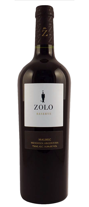Zolo Reserve 2011 Malbec Bottle