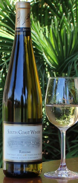 South Coast Winery 2012 Riesling Bottle