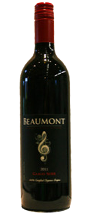 Beaumont Family Estate Winery 2011 Gamay Noir Bottle