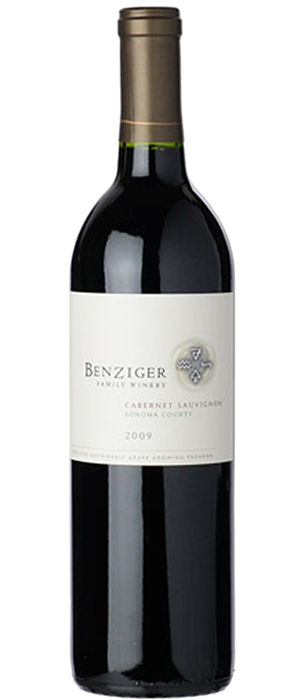 Benziger Family Winery 2009 Cabernet Sauvignon Bottle