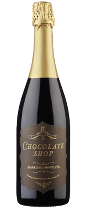 Sparkling Chocolate Red Wine Bottle