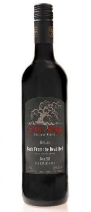 Coffin Ridge Boutique Winery 2016 Back From the Dead Red Bottle