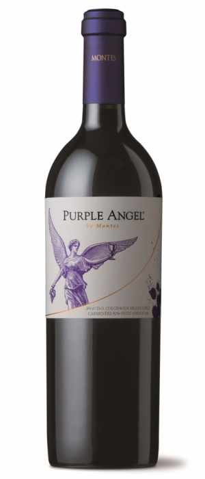 Purple Angel by Montes 2014 Carmenère Bottle