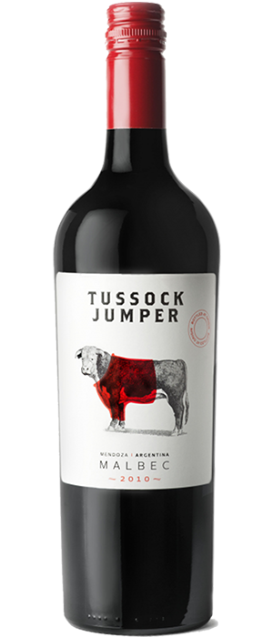 Tussock Jumper 2010 Malbec Bottle