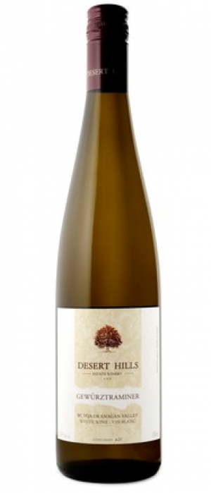 Desert Hills Estate Winery 2017 Gewürztraminer Bottle