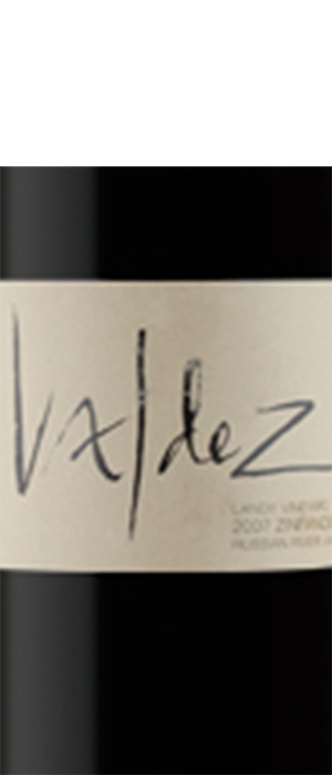 Valdez Family Winery 2007 Zinfandel Bottle