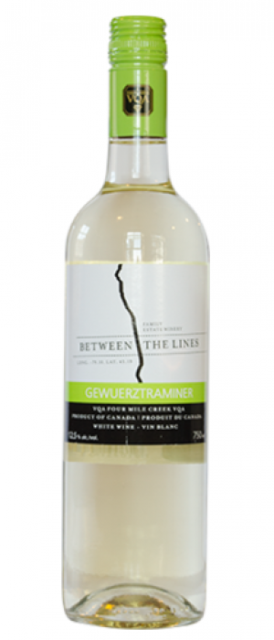 Between The Lines Winery 2016 Gewürztraminer | White Wine